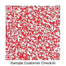 Scan to try sample customer check-in